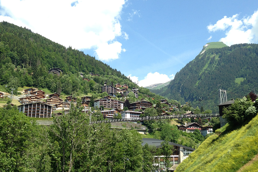 end of the season in Morzine