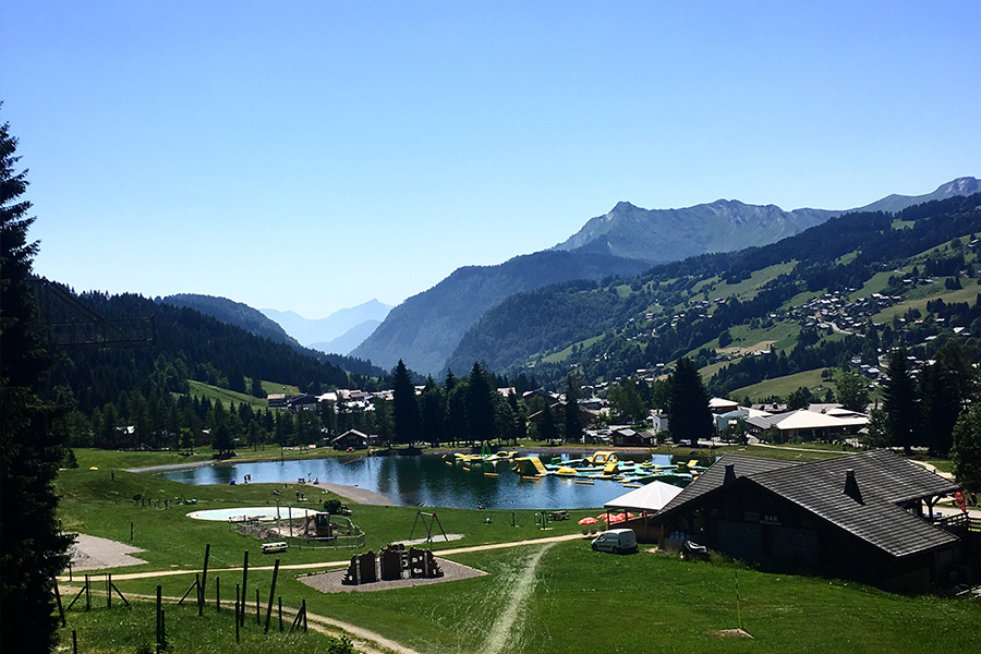 Summer-Family-Holiday-in-Morzine-Lake-Les-Gets-Wibit-Aqua-Park